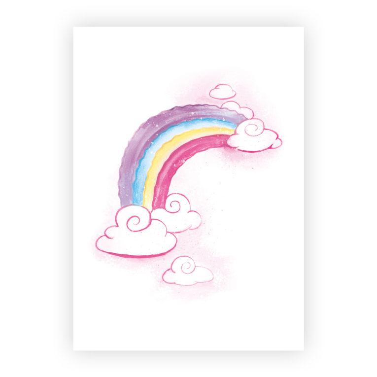Kinderzimmer Poster 3er-Set: Regenbogen Aquarell