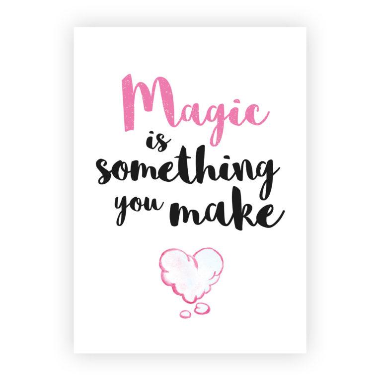 """Kinderzimmer Poster 3er-Set: Spruch """"Magic is something you make"""""""