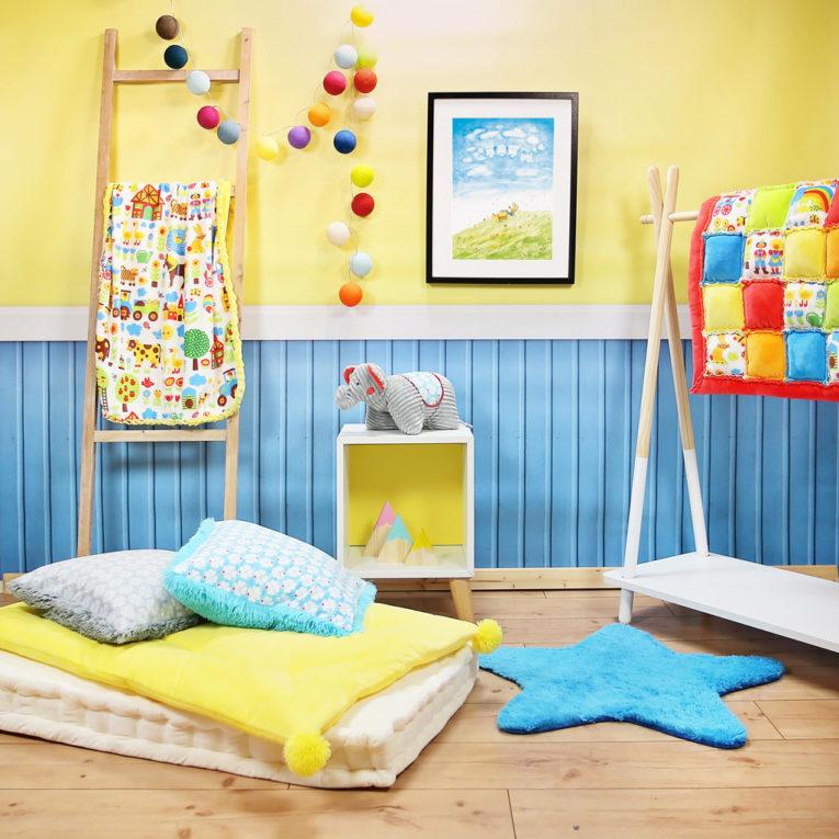 """A3 Kunstdruck Kinderzimmer: Aquarell """"Hase träumt auf Wiese"""""""
