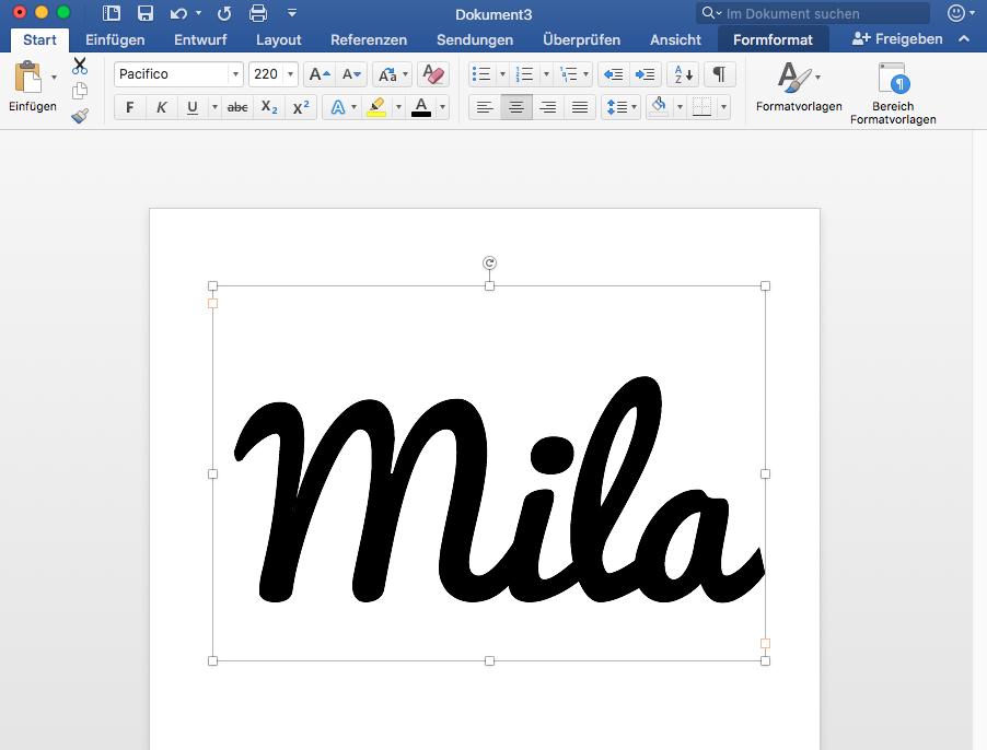 Buchstabenapplikation selber machen
