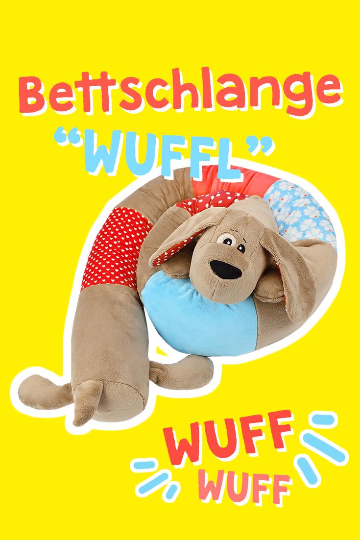 Bettschlange nähen mit Schnittmuster Hund WUFFL