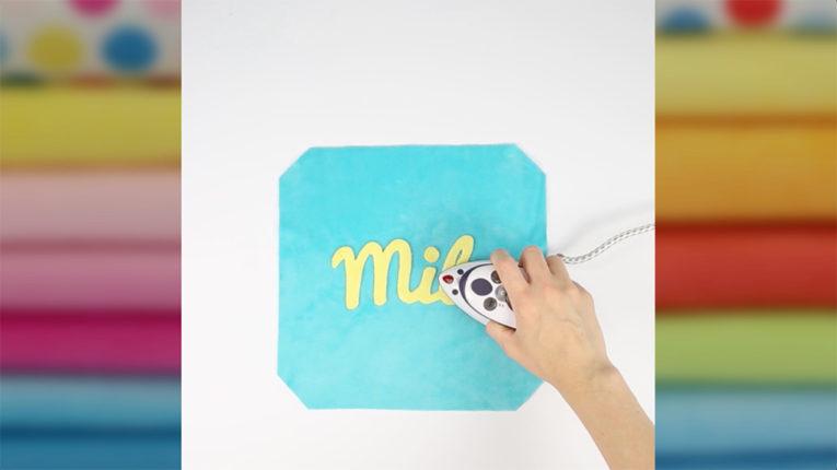 QUick Tip Video Nähanleitung: Buchstaben applizieren