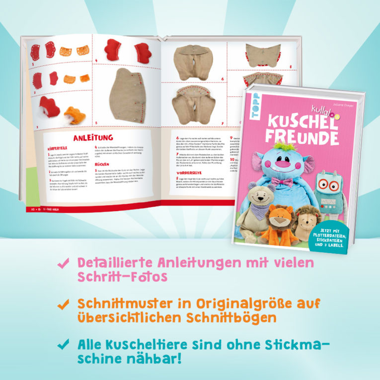 """Nähbuch Kuscheltiere: kullaloo """"Kuschelfreunde"""": Inhalt"""