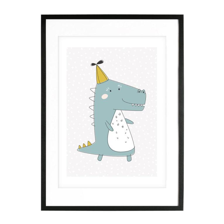 """A3 Poster Kinderzimmer Jungen und Mädchen """"Krokodil"""""""