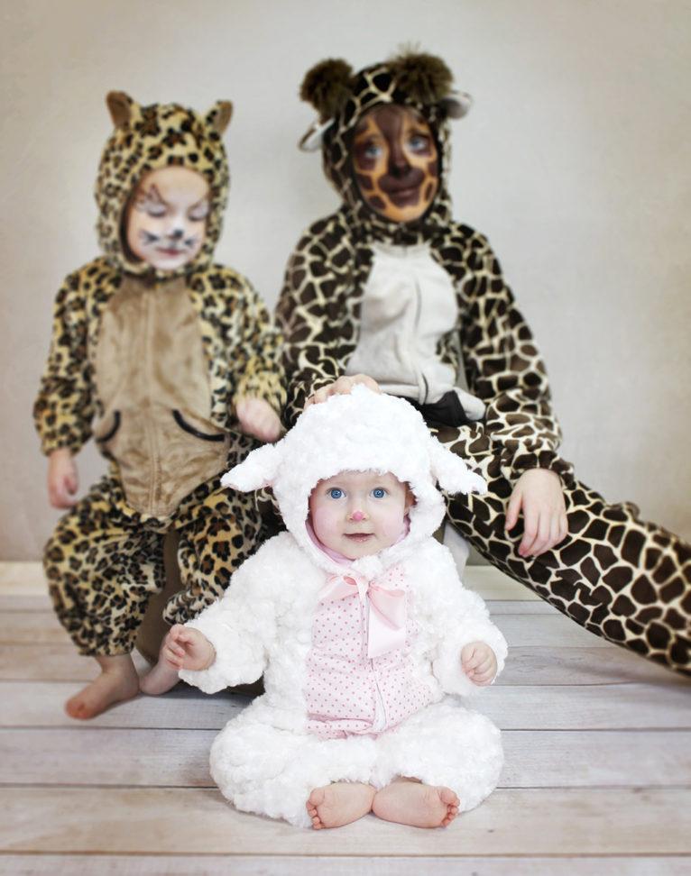 Schnittmuster Tierkostüm Overall für Babys und Kinder
