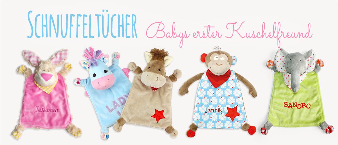 Nähen für Babys: Schnuffeltücher