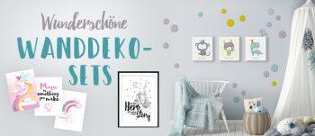 Wunderschöne Wanddeko Sets fürs Baby- oder Kinderzimmer
