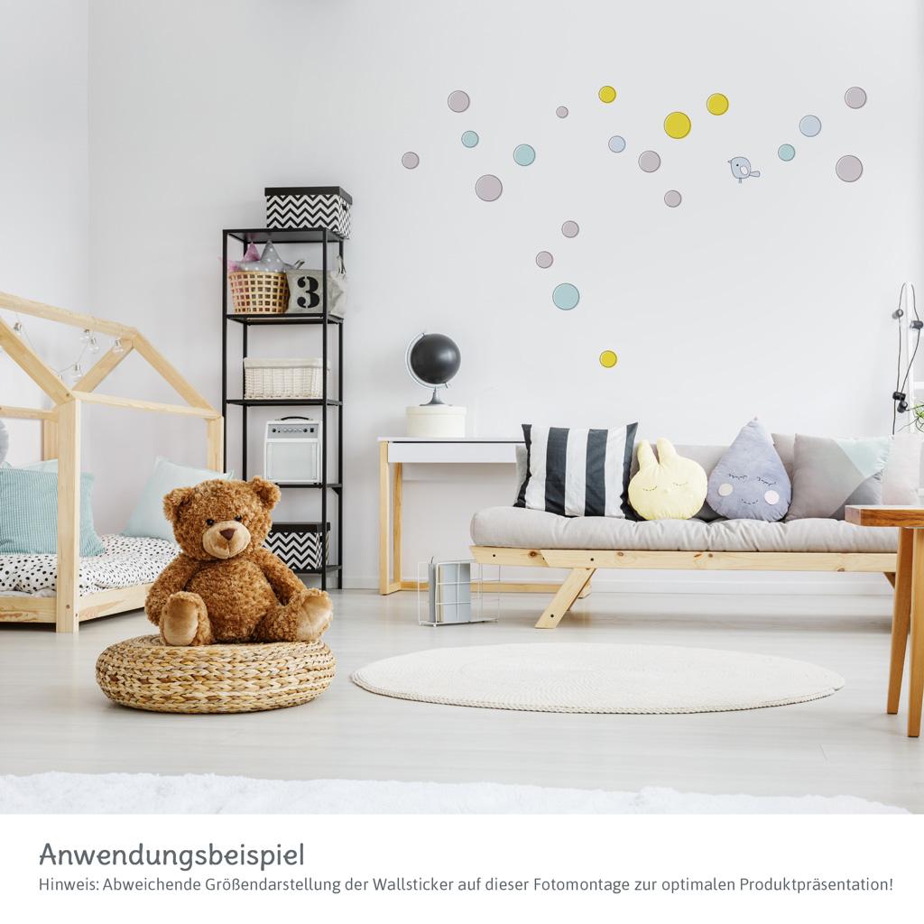 Wallsticker Wandtattoo Kinderzimmer 21 Teiliger A4 Bogen Mit
