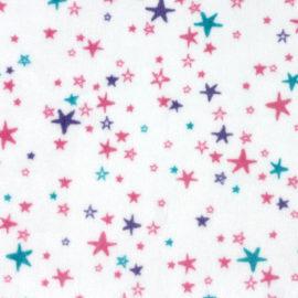 """Plüschstoff Sterne: """"Starbright"""" rosa / petrol – SHANNON fabrics"""