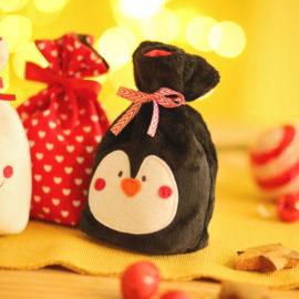 """Adventskalender Säckchen selber nähen: Pinguin """"PEPPA"""""""