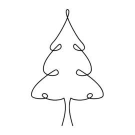 Nähen für Advent und Weihnachten: Lineart Applikationsvorlagen