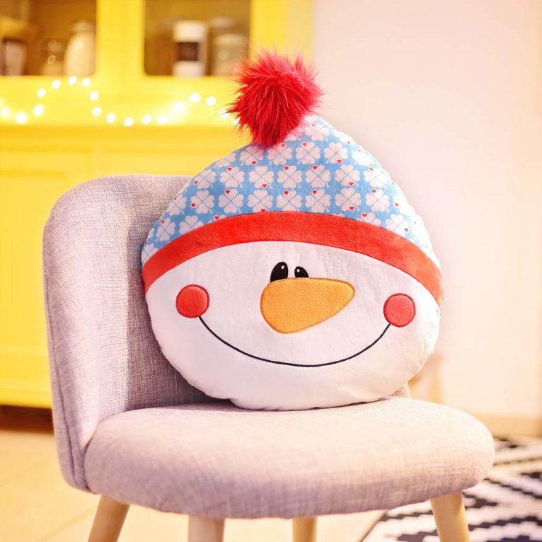 Schneemannkissen nähen für Weihnachten
