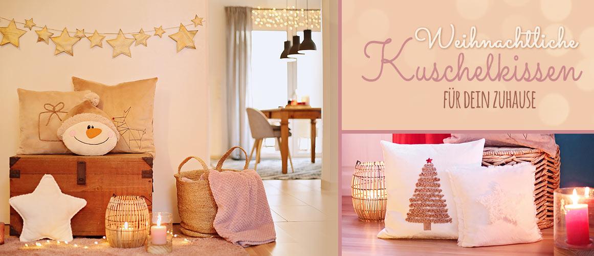 Nähen für Weihnachten: Kuschelige Kissen als Weihnachtsdeko nähen