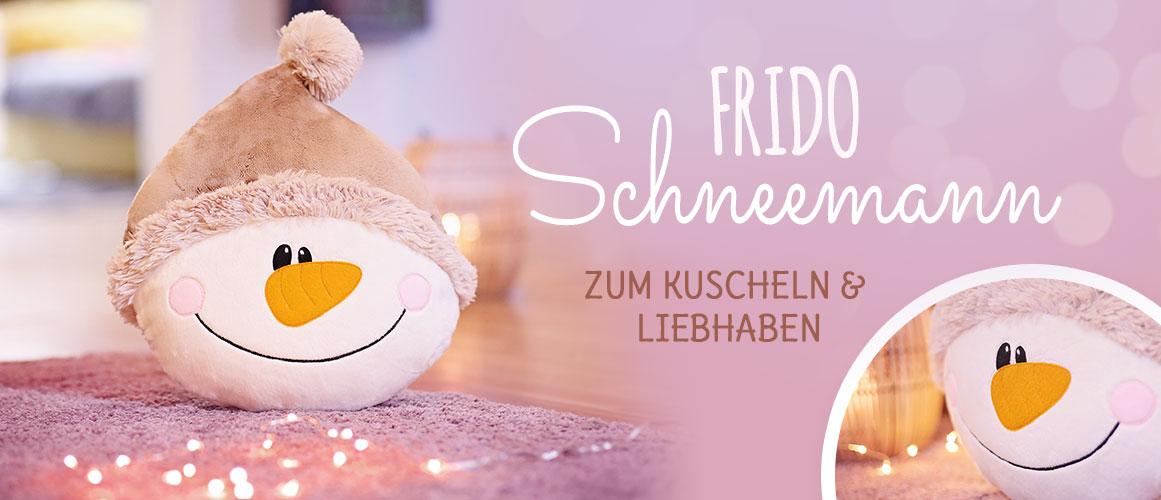 Nähen für Weihnachten: Schneemannkissen nähen (kostenloses Schnittmuster)