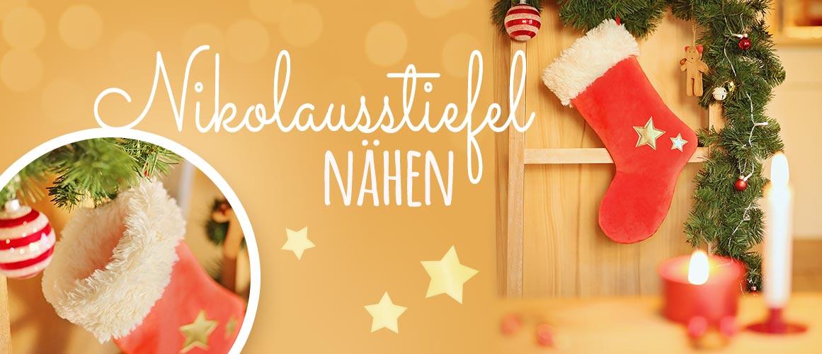 Nähen für Weihnachten: Nikolausstiefel nähen