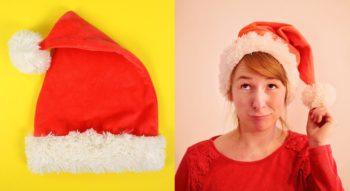 Weihnachtsmannmütze / Nikolausmütze nähen