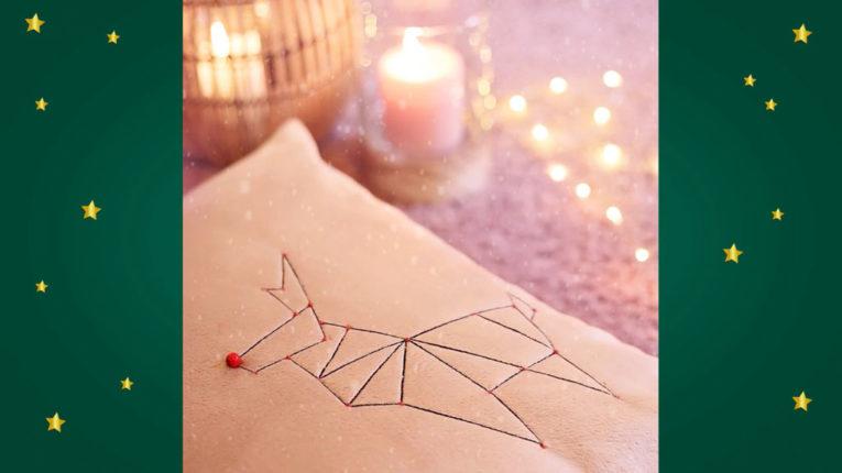 Quick Tip Video: weihnachtliche Origami-Applikation