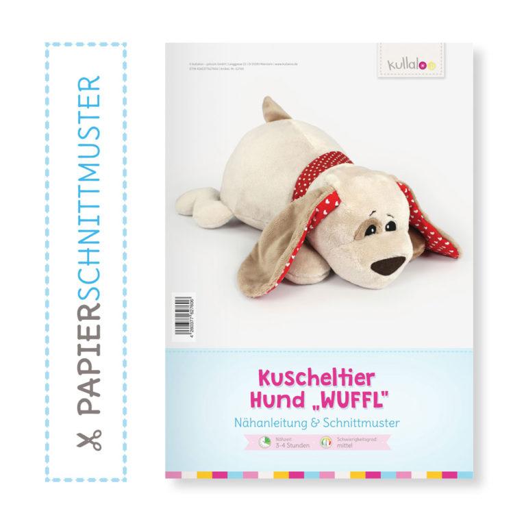 """Papierschnittmuster Hund """"WUFFL"""" als Kuscheltier"""
