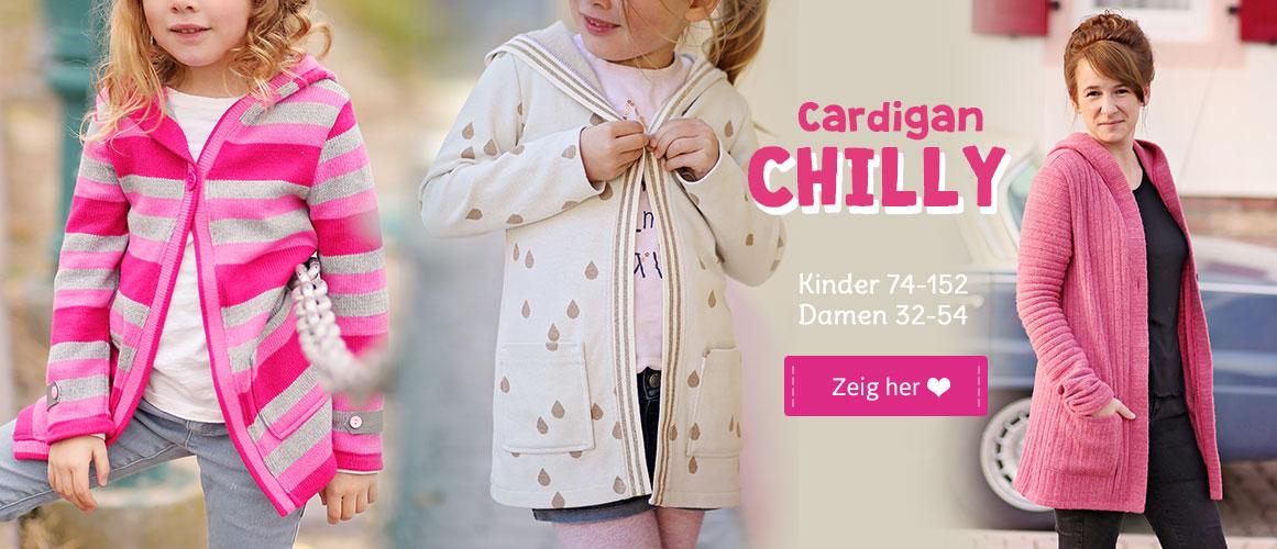 Schnittmuster Cardigan CHILLY für Kinder und Damen
