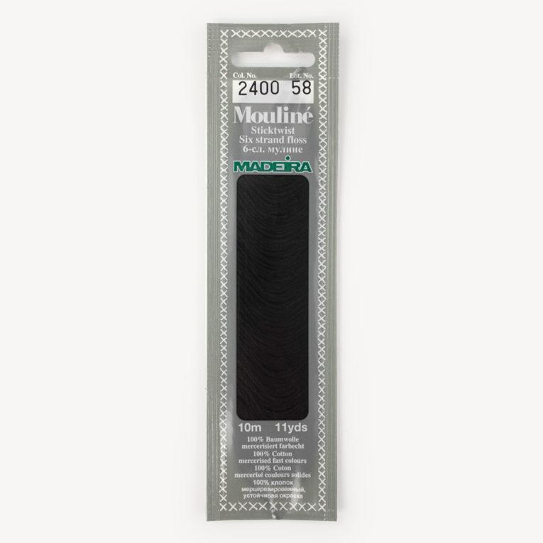 Madeira Mouliné Sticktwist schwarz