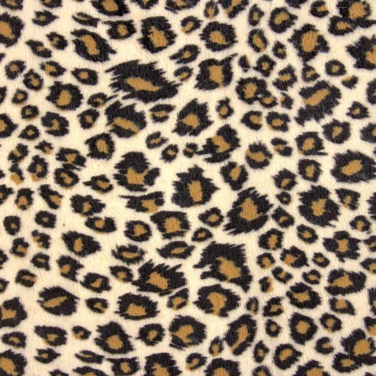 Plüschstoff Gepard / Leopard