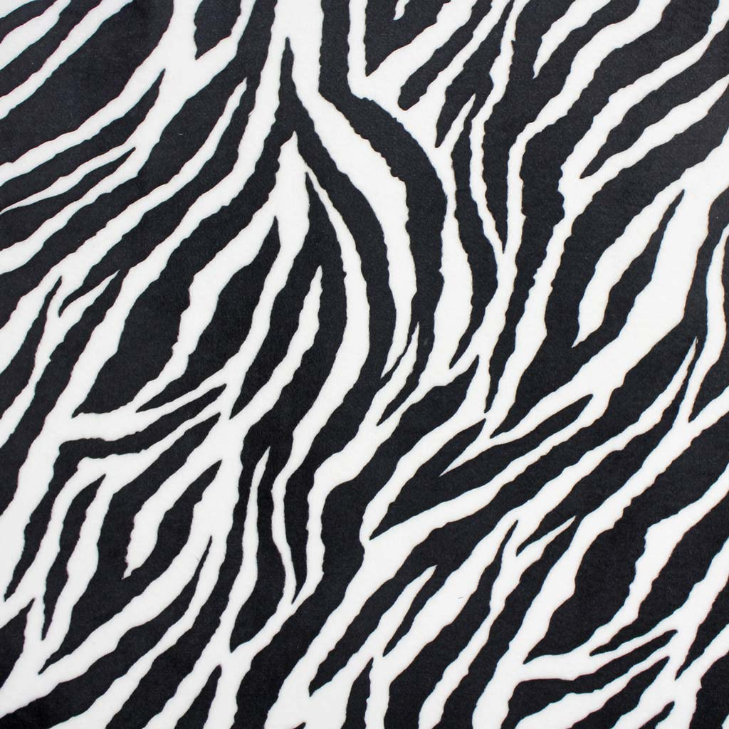 Shannon Plüsch Zebra Muster 3 Mm Flor 05m