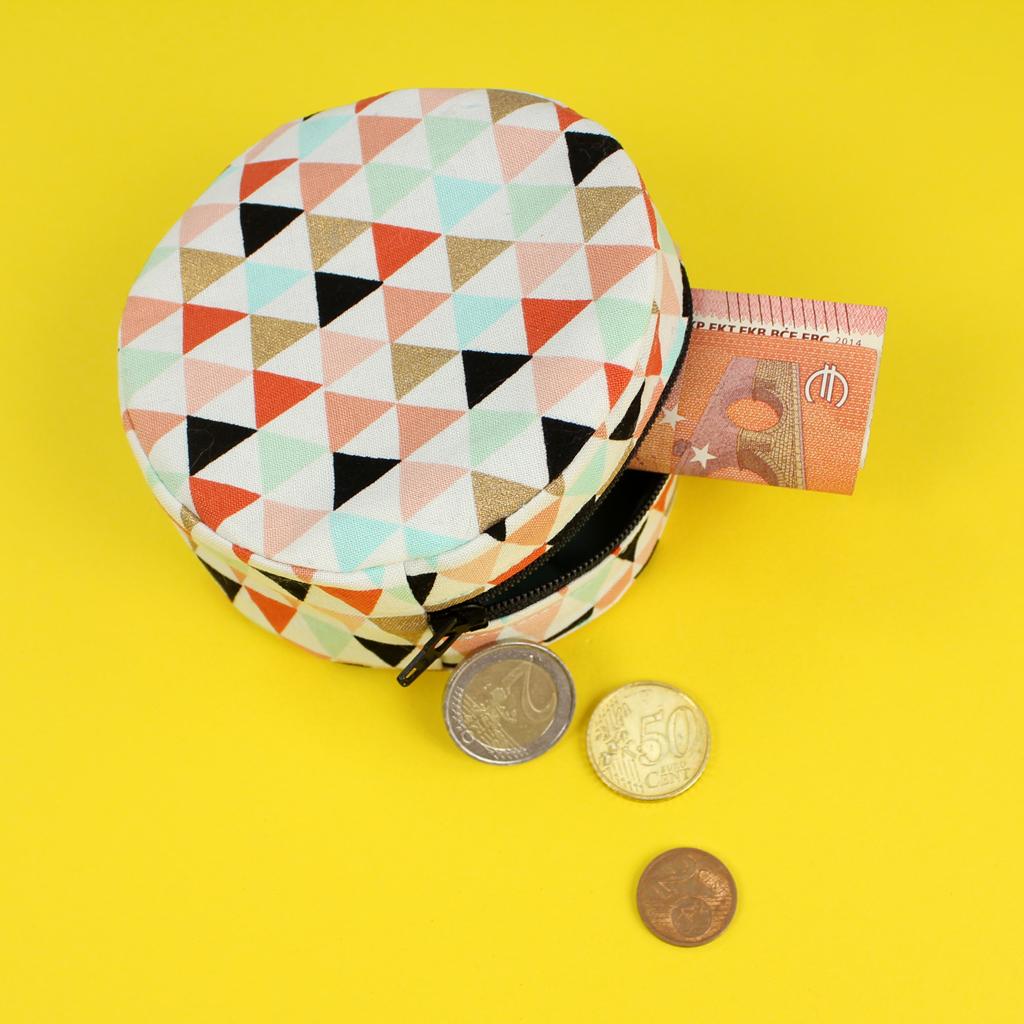 Kleine Tasche nähen mit Reißverschluss – kostenloses Schnittmuster