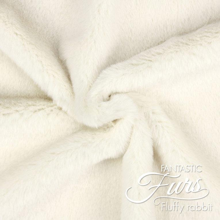Kunstpelz / Fake Fur wollweiß – 12 mm Fluffy Rabbit ✶ FANTASTIC Furs