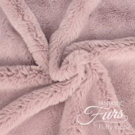 Kunstpelz / Fellimitat altrosa – 12 mm Fluffy Rabbit ✶ FANTASTIC Furs