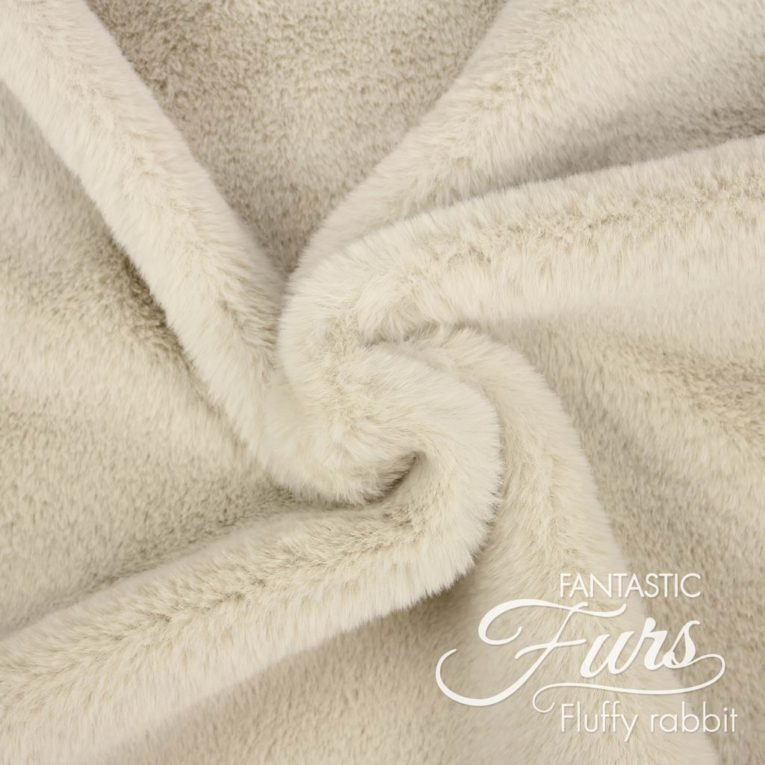 Fellstoff beige / latte Meterware – 12 mm Fluffy Rabbit ✶ FANTASTIC Furs