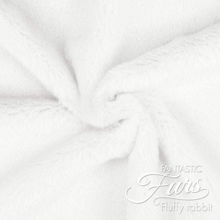 Kunstpelz weiß Meterware – 12 mm Fluffy Rabbit ✶ FANTASTIC Furs