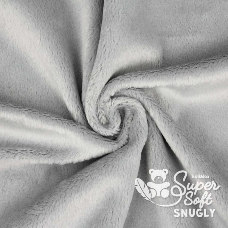 Kurzhaar Plüsch Stoff grau / silber - SuperSoft SNUGLY