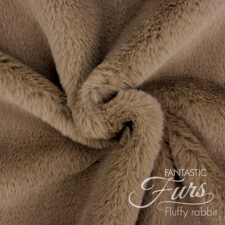 Pelzimitat braun / nougat Meterware – 12 mm Fluffy Rabbit ✶ FANTASTIC Furs