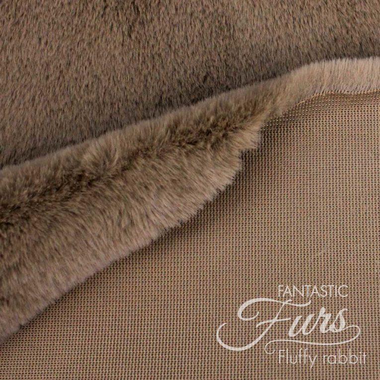 Pelzimitat braun / nougat Meterware – 12 mm Fluffy Rabbit ✶ FANTASTIC Furs