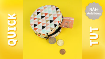 Quick Tut: Reißverschlusstasche nähen