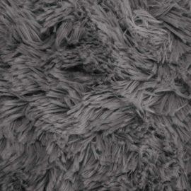 SHANNON Zottelplüsch dunkelgrau – 30 mm Flor