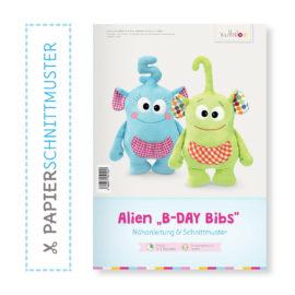 """Papierschnittmuster """"B-Day-Bibs"""" zum Alien Nähen"""