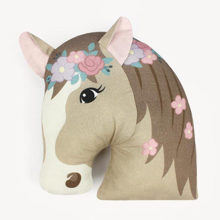 """HORSE LOVE"" Pferde Cut & Sew Stoff Panel: Pferdekissen"