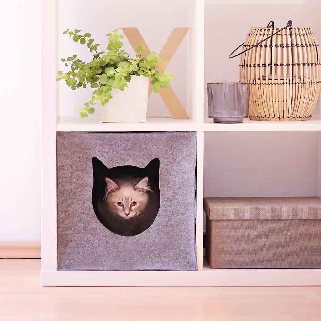 Katzenhöhle nähen aus Filz