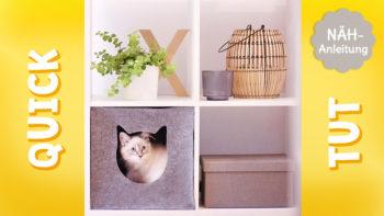 Katzenhöhle nähen: Video + Freebooks