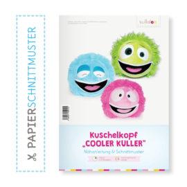 """Papierschnittmuster Monster Kuschelkopf """"COOLER KULLER"""" Nähanleitung"""
