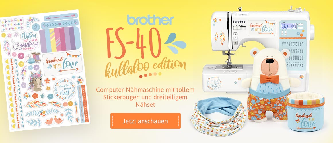 Computer Nähmaschine brother FS-40 kullaloo edition
