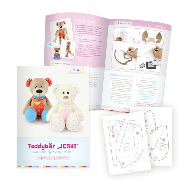 Schnittmuster Teddy / Nähanleitung Teddybaer