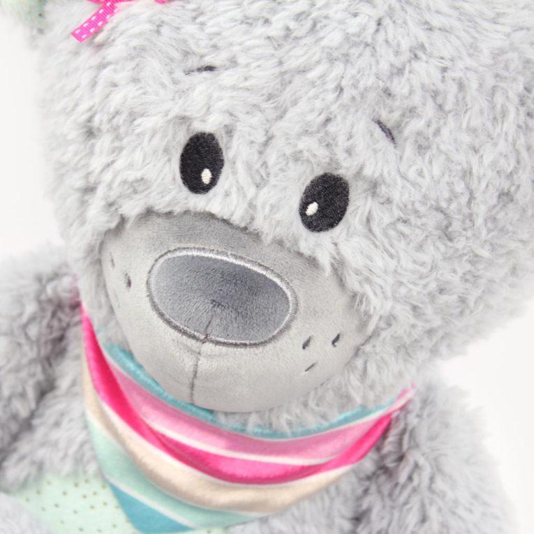 Schnittmuster Teddybär JOSHI aus Fine Teddy in hellgrau