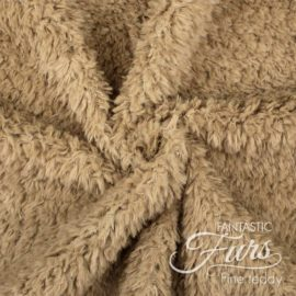 Teddy Plüsch Stoff braun / walnuss – 10 mm Fine Teddy ✶ FANTASTIC Furs