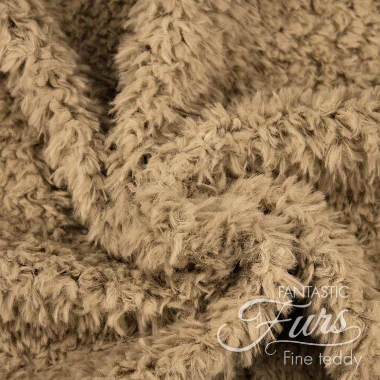 Teddy Plüsch Stoff braun / walnuss – 10 mm Fine Teddy ✶ FANTASTIC Furs