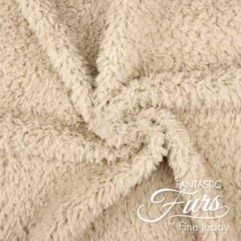Teddy Stoff Meterware beige / macadamia – 10 mm Fine Teddy ✶ FANTASTIC Furs