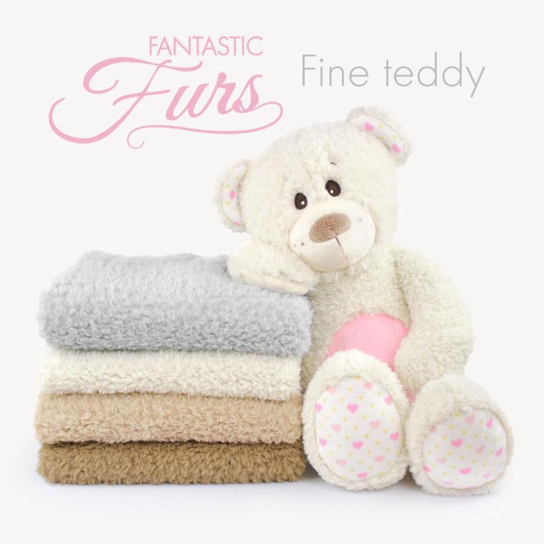 Teddyplüsch Stoff Meterware – 10 mm Fine Teddy ✶ FANTASTIC Furs