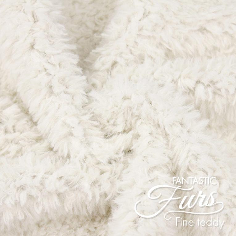 Teddystoff Meterware wollweiß – 10 mm Fine Teddy ✶ FANTASTIC Furs