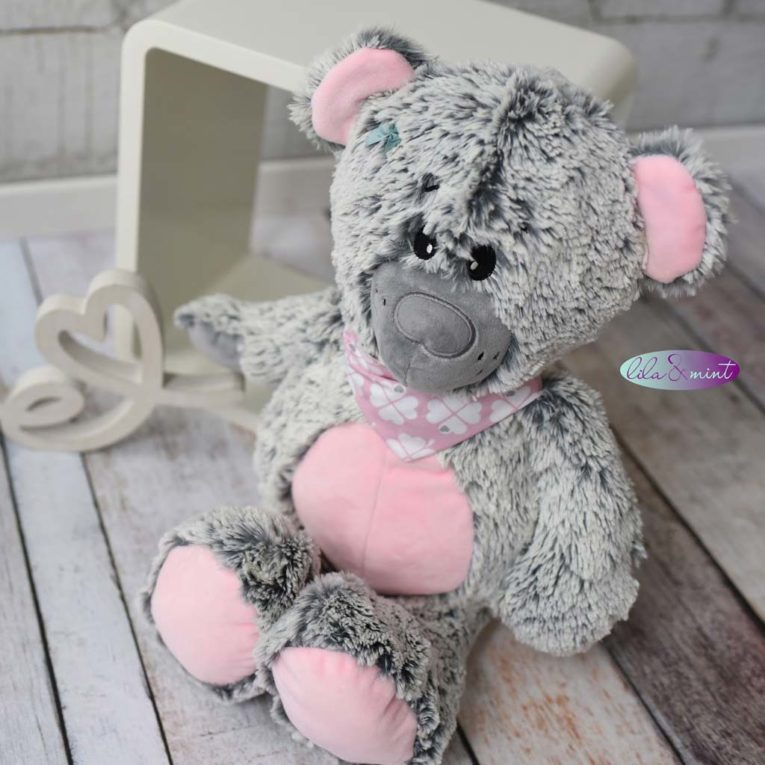 """Teddy """"JOSHI"""" genäht von lila&mint aus DipDye Zottelplüsch"""